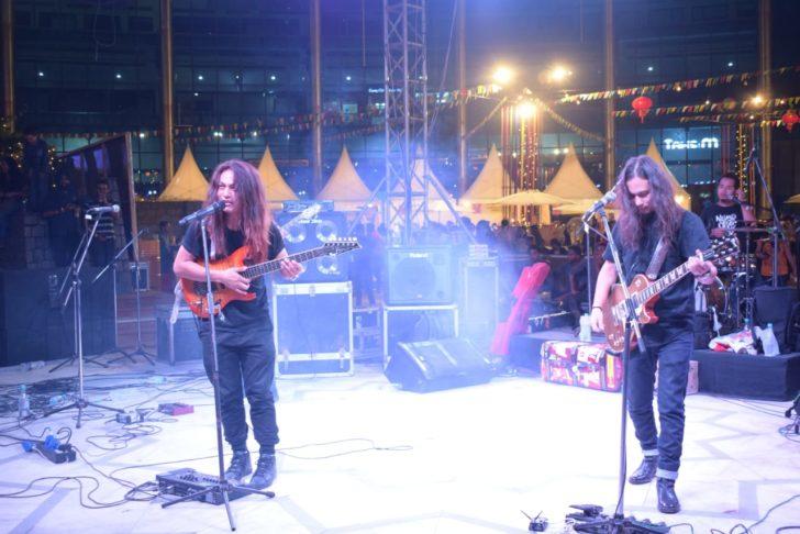 Traffic Jam Band performing at Momos festival